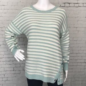 Caslon Gray Side Button Sweater